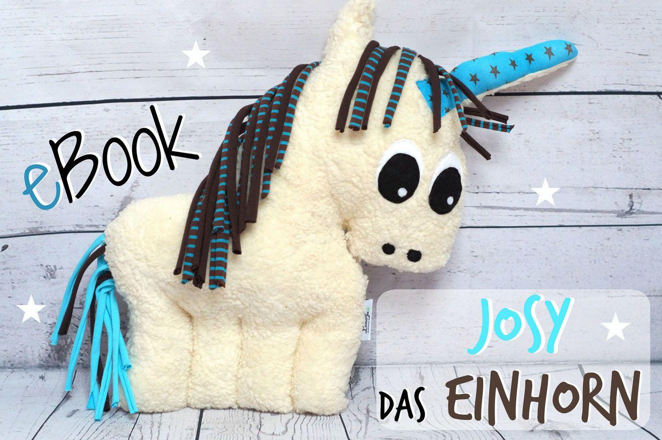 Kuscheltier selber nähen DIY Einhorn, Nähanleitung Stofftier ...