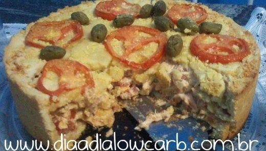 Torta salgada lowcarb