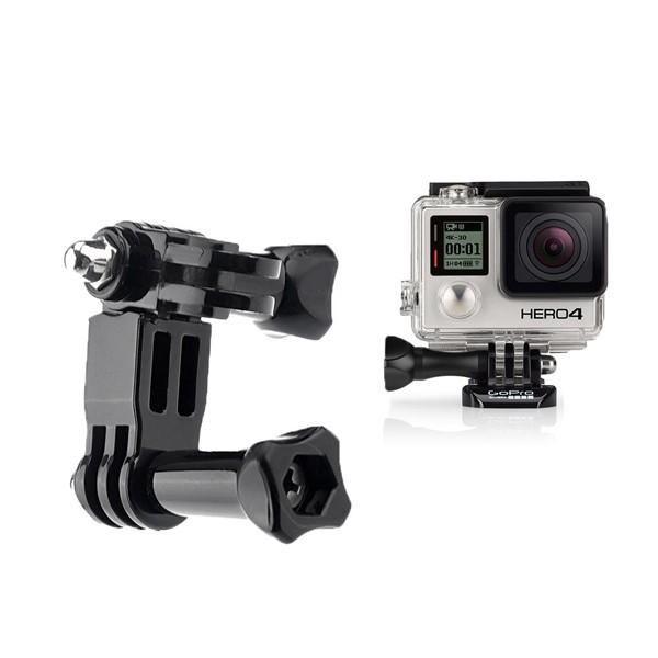 Brazo de pivote ajustable de tres vías para cámara GoPro HD Hero 4 Black