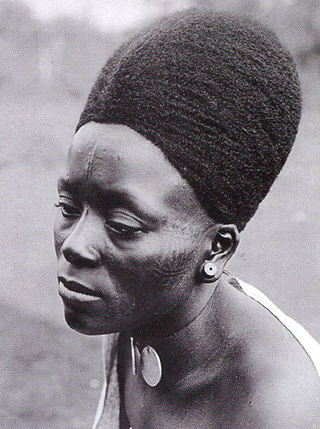 Africa | Portrait of  Lydia Mengwelune (1886 to 1966). Portrait taken in…