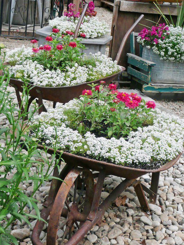 6 decoraciones de jardín de estilo vintage