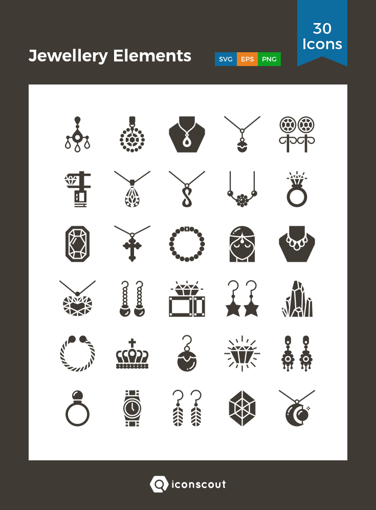 Download Jewellery Elements Icon Pack Available In Svg Png Eps Ai Icon Fonts Icon Jewelry Jewelry Logo Inspiration Icon Pack