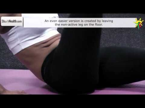 Stomach workout for lower abs: half jackknife sit ups for