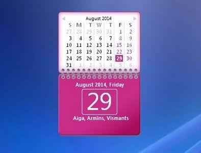 Pin by Windows Personalization on Calendar Gadgets Win7