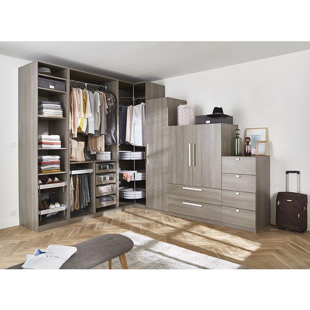 grand dressing d angle d cor ch ne cendr darwin castorama chambre pinterest. Black Bedroom Furniture Sets. Home Design Ideas