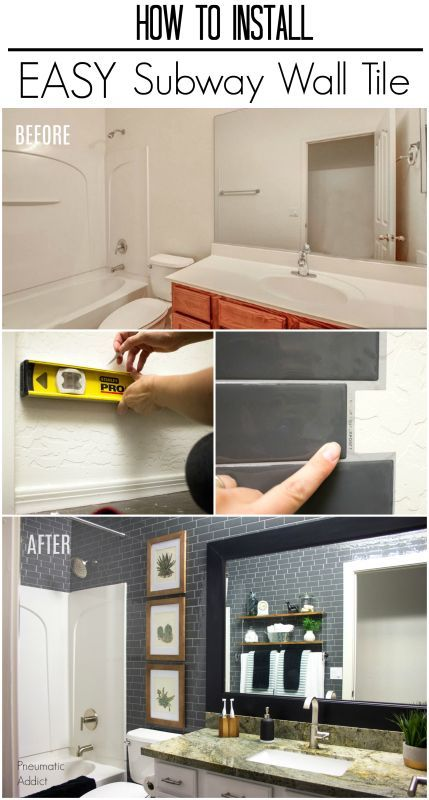 How To Install Easy Subway Wall Tile With Images Kitchen Wall
