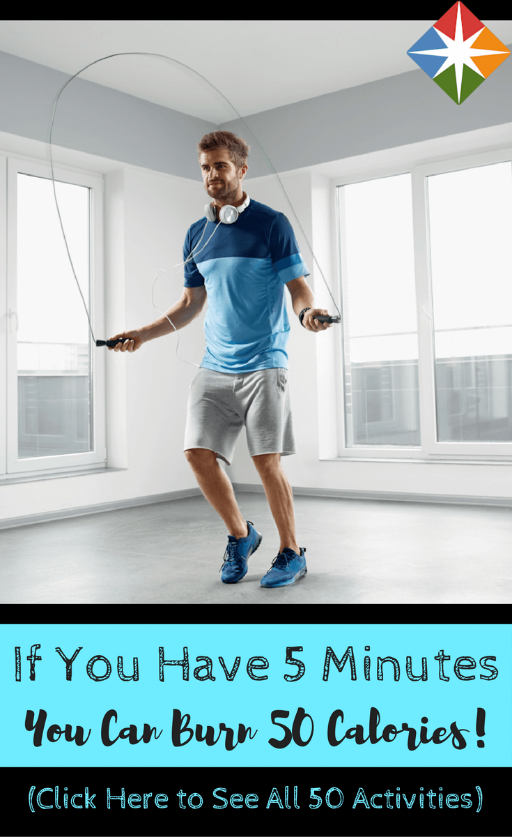 50 Easy Ways to Burn 50 Calories in 5 Minutes | Easy ...
