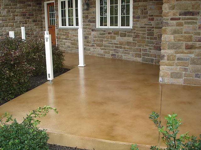 Atlanta Decorative Concrete   Patio   Brown Stained Concrete