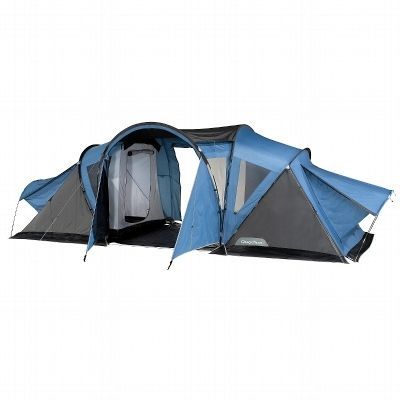 tente 4 places 2 chambres t4 2 xl air b quechua mat riel camping blue grey festival must