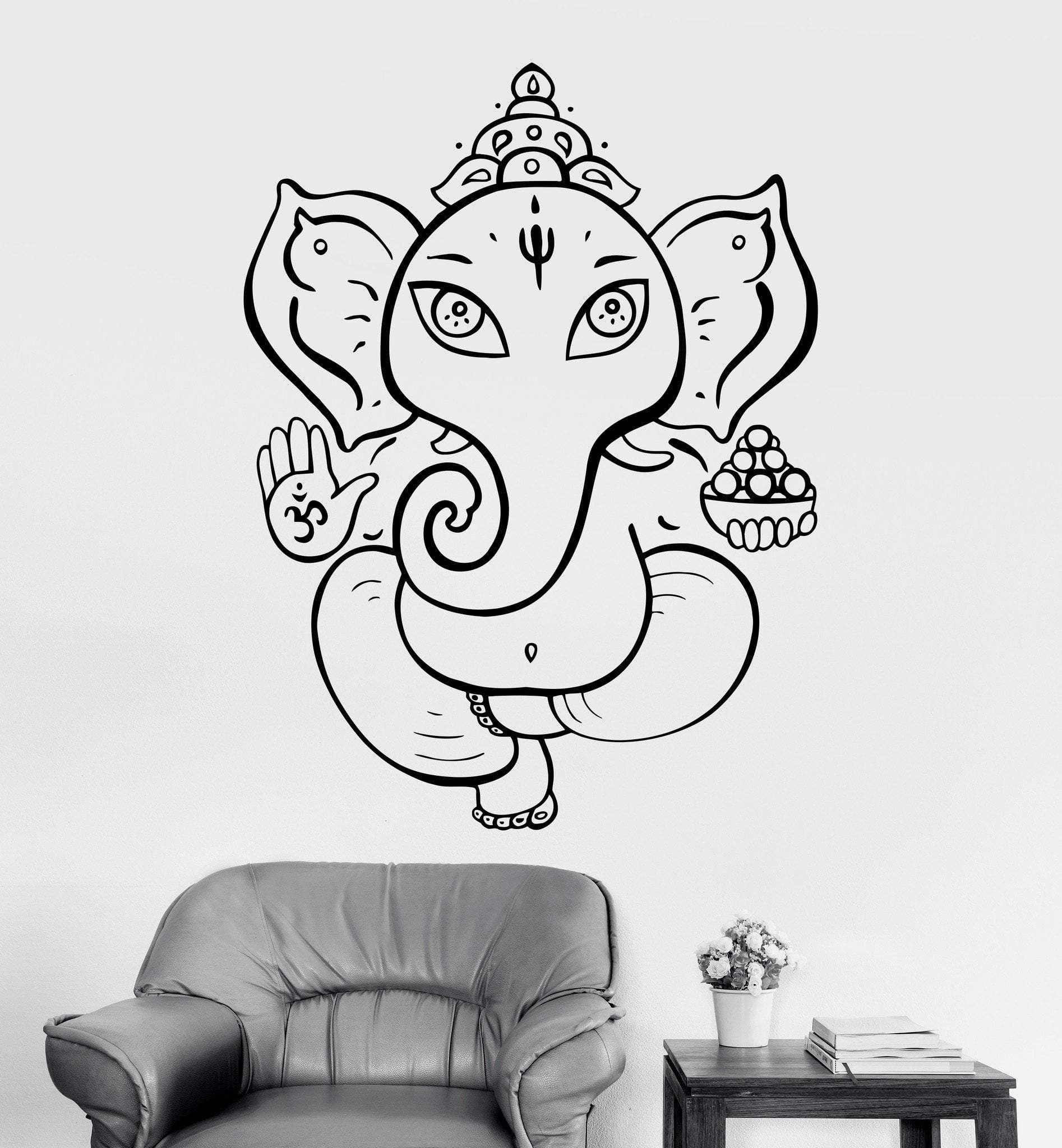 Shiva Vinyl Wall Decal Hinduism Hindu God India Home Decor