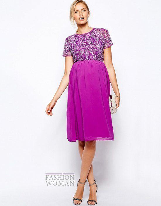Maternity Evening Midi Dress #fashionwomancom | Maternity Fashion ...