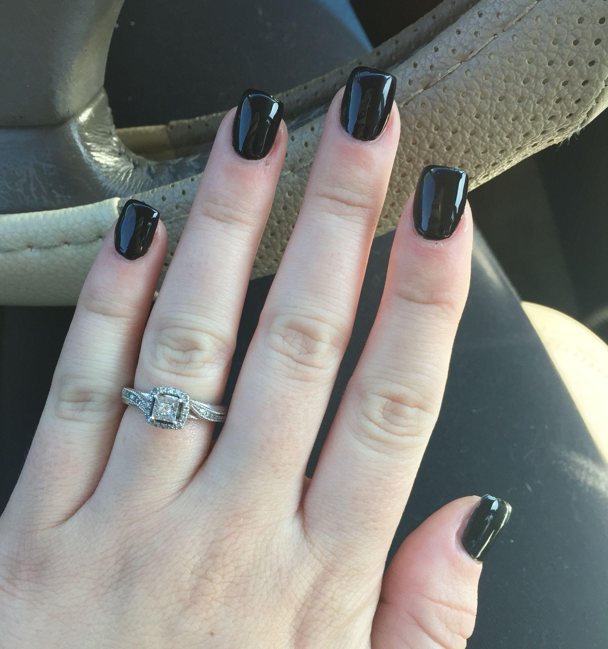 short black acrylic nails nails pinterest black
