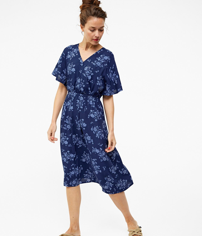 Blommig klänning i blått | Dam | Hampton Republic 27 KappAhl