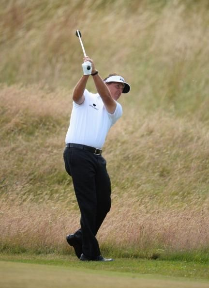 Approach shot at the Open Championship