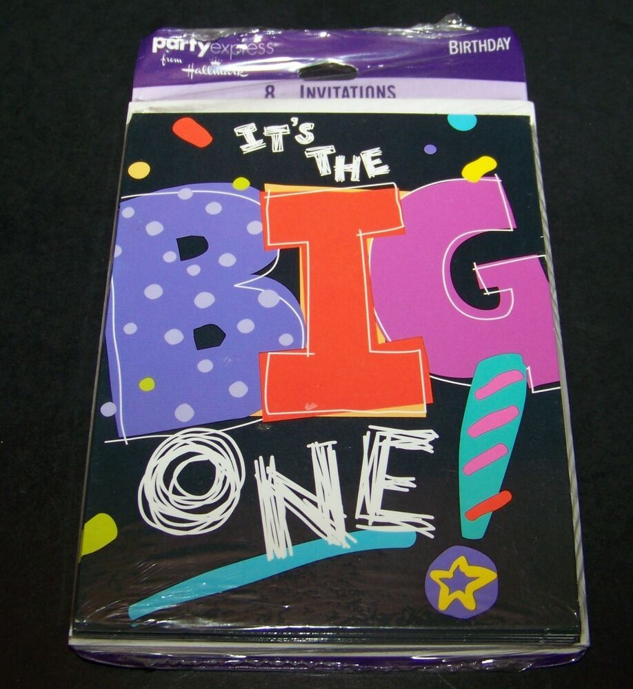 It's the Big One Birthday Party Invitations 30 40 50 60 70