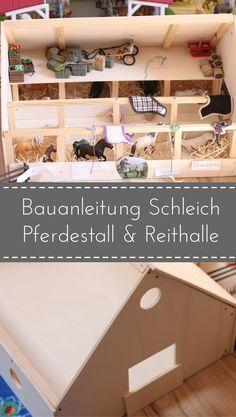 diy wir bauen einen schleich pferdestall reithalle basteln mit holz schleich pferdestall. Black Bedroom Furniture Sets. Home Design Ideas