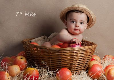 Otavio 7 Meses Bebe Mes A Mes Bebe Mes A Mes Fotos De Bebes