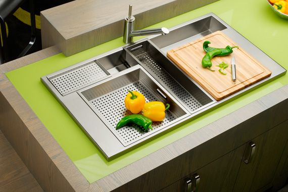 Kinda Cool Water Goes Right Through And Take Care Of It All Right There I Am Always Entertained Kitchen Sink Design Kitchen Design Modern Kitchen Sinks