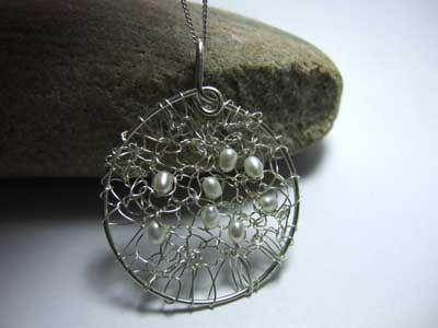 unusual knitted jewellery
