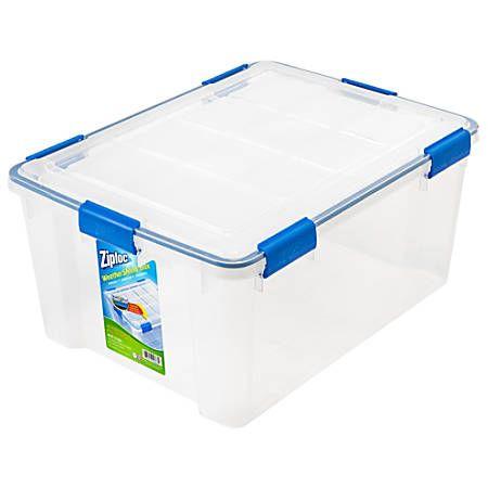 Ziploc Weathertight Storage Box 60 Quart Storage Tubs