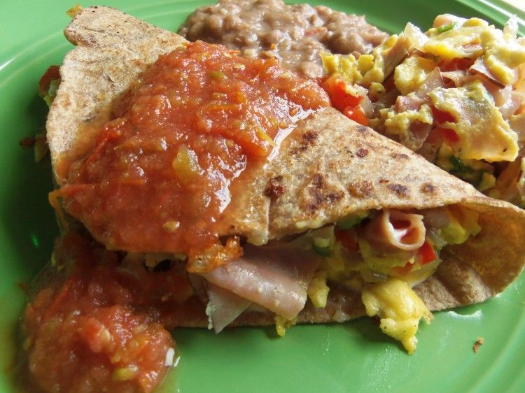 "Breakfast ""Machitos"" Tacos - Hispanic Kitchen - including a recipe for homemade whole wheat tortillas"