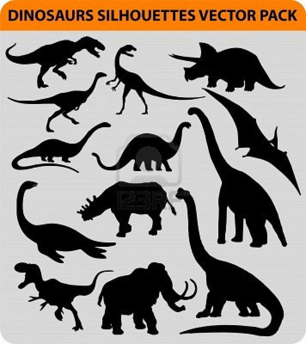 Dinosaur Silhouettes With Images Dinozaur Dinozaury Zwierzeta
