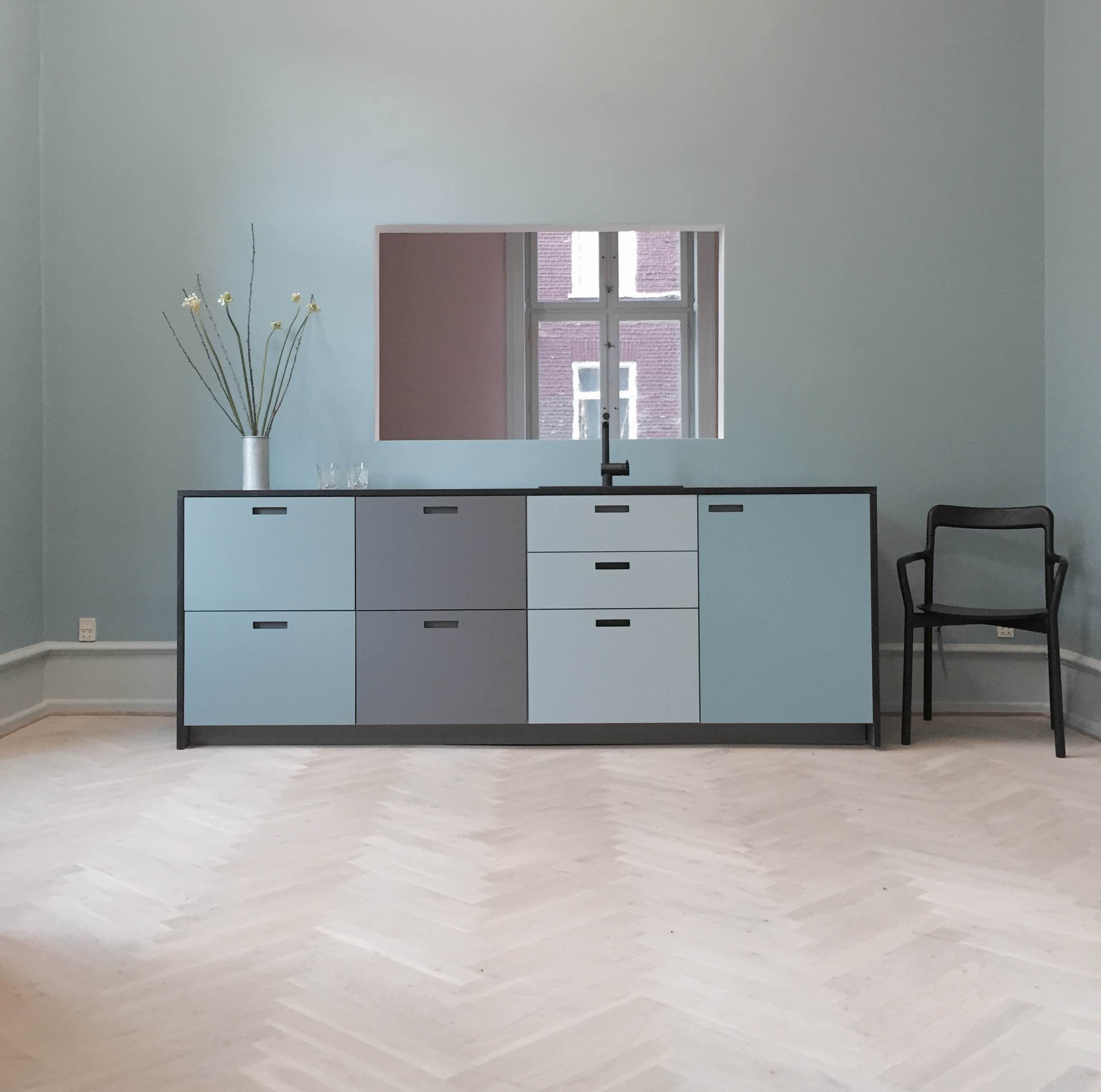 &shufl - our brand new showroom. &shufl laminate kitchen in the ...