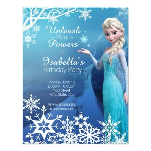Frozen Elsa Birthday Party Invitation Elsa birthday invitations