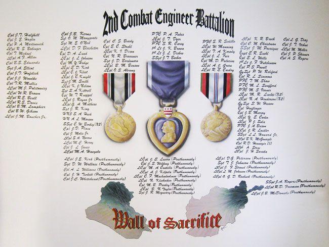 Second Combat Engineer Battalion Wall Of Sacrifice Hba Architecture Interior Design Battalion Combat Interior Architecture Design