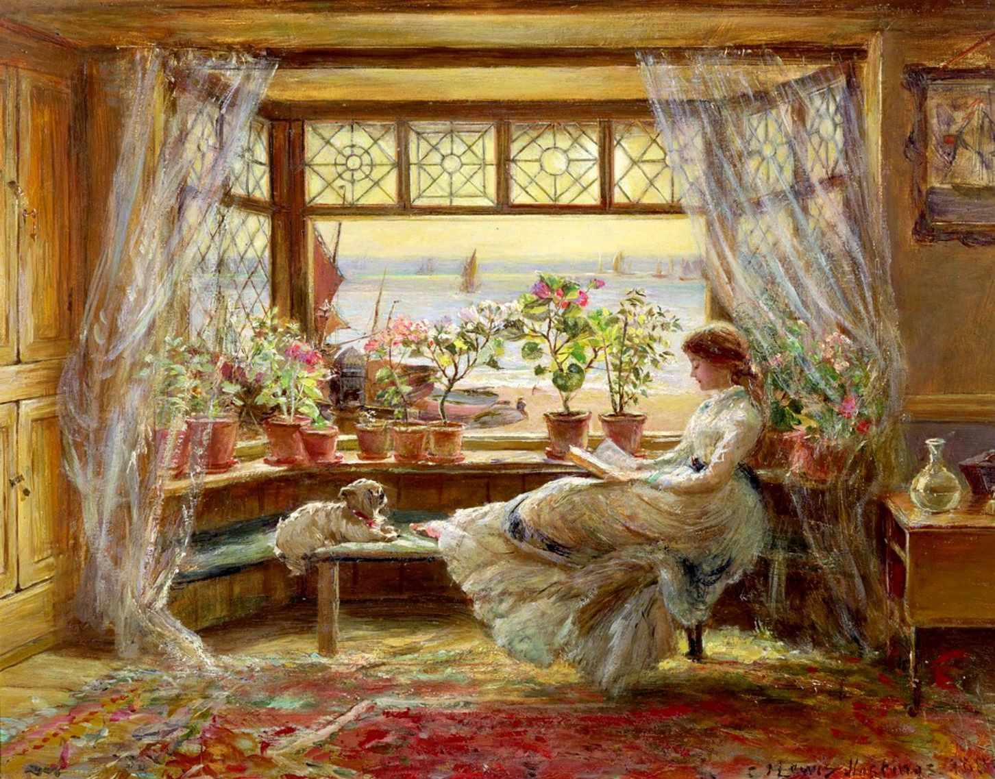 charles james lewis reading by the window 1880 artist james charles james lewis reading by the window 1880