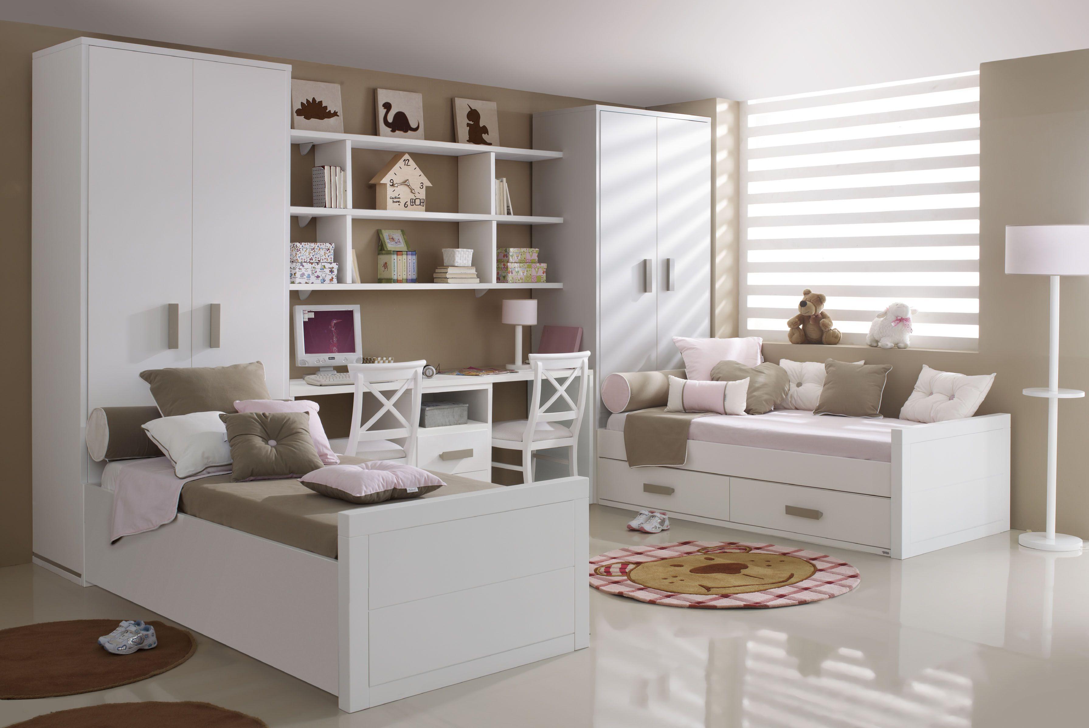 Pin De Nata En Pinterest Dormitorios Ni Os  ~ Habitaciones Dobles Para  Ninos