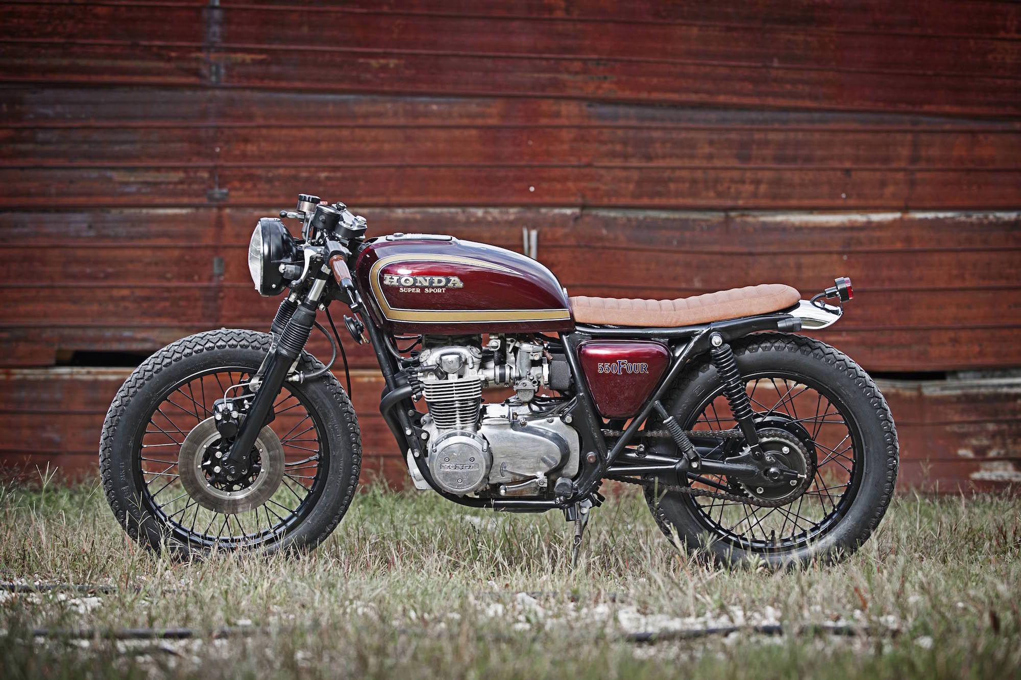 Honda Cb550f Supersport Cafe Racer Honda Brat Motorcycle Cafe Racer [ 1331 x 2000 Pixel ]