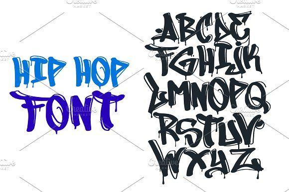 Hip Hop Graffiti Font By Antonychernianu On Creativemarket