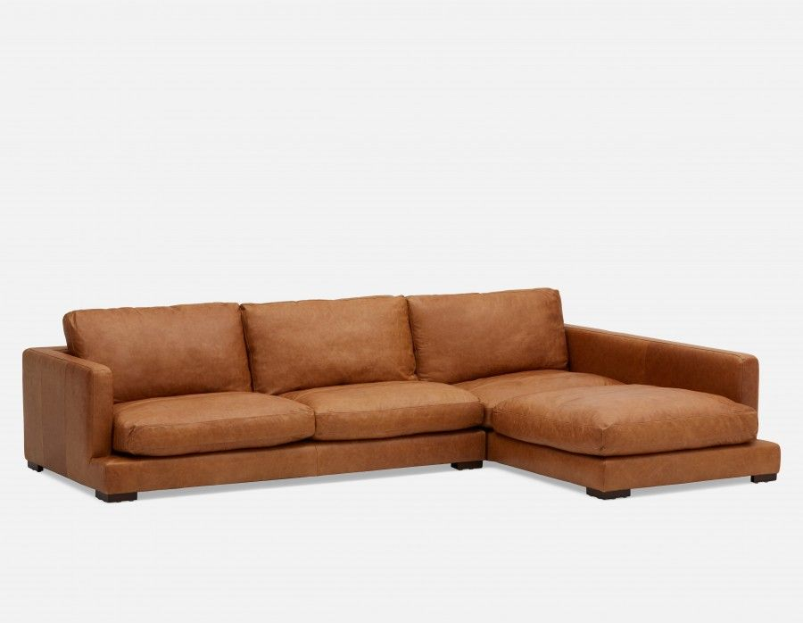 Admirable Highland 100 Leather Sectional Sofa Right Caramel Caraccident5 Cool Chair Designs And Ideas Caraccident5Info