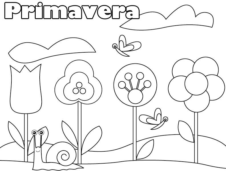 Atividades De Primavera Para Imprimir E Colorir Toda Atual