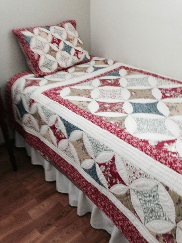 Ll Bean Twin Quilt Sham Diamond Star Patchwork Comforter