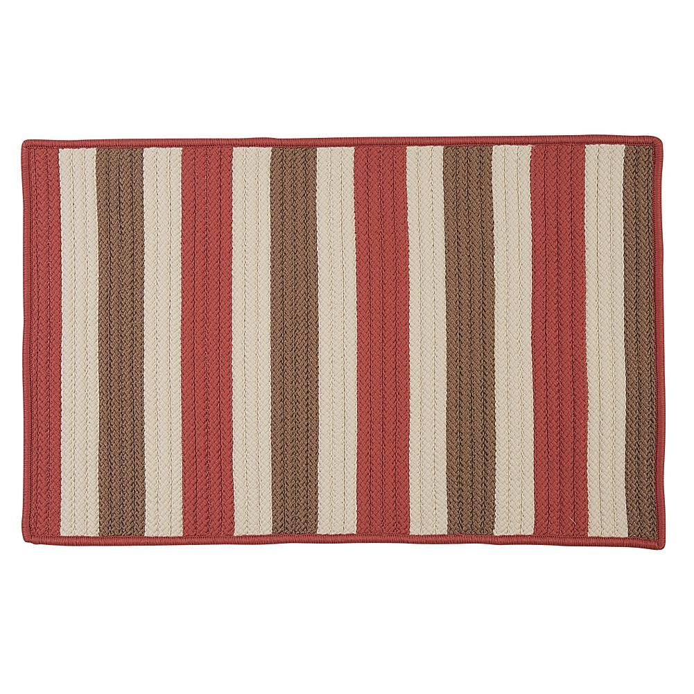 Home Marketplace Colonial Mills Stripe It 8 X 11 Rug Terracotta
