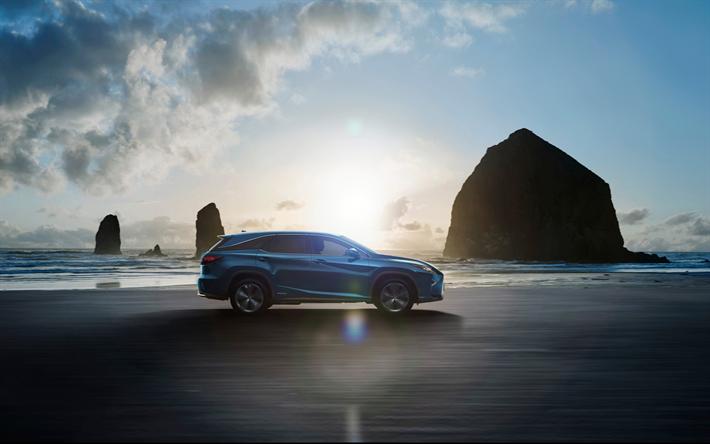 Lataa kuva Lexus RX 450hL, offroad, 2018 autoja, jakosuotimet, uusi RX, Lexus