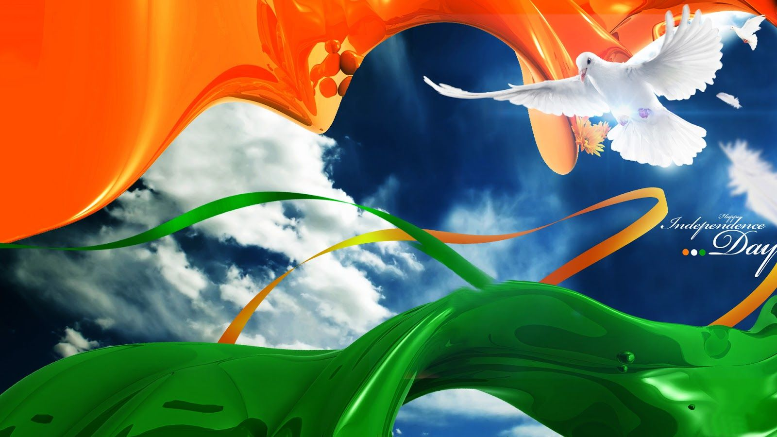 Creative Watercolor Indian Flag Background For Indian: Painting Of Indian Flag Wallpaper:Computer Wallpaper
