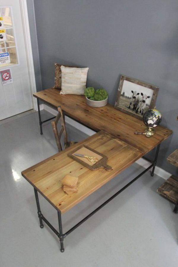 Eckschreibtisch selber bauen anleitung  Schreibtisch selber machen | Me Casa | Pinterest | Eckschreibtisch ...