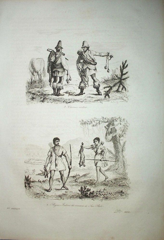 Charrúa people Uruguay - São Paulo Brazil - D'Orbigny 1836