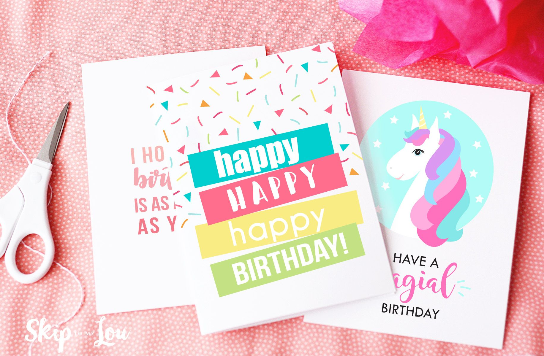 Free Printable Birthday Cards Need A Last Minute Card Print This At Home And Youre All Set For Sweet Gift Freeprintable