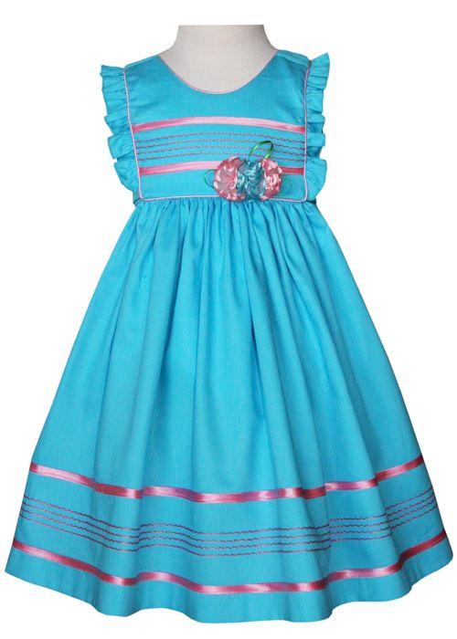 Turquoise girls dress