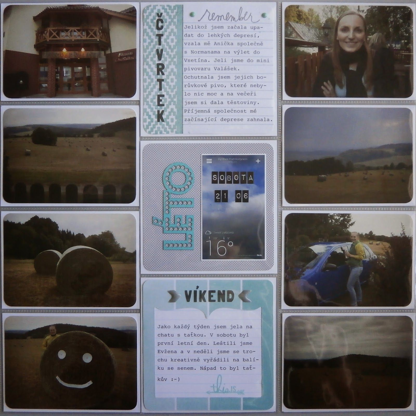 Project life 2014 - 25. týden (pravá strana)