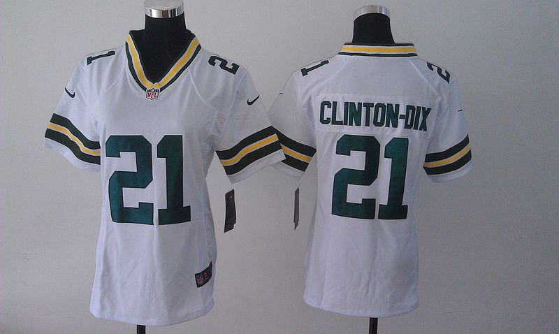 Womens Green Bay Packers 21 Ha Ha Clinton Dix White 2014 Nike Jersey