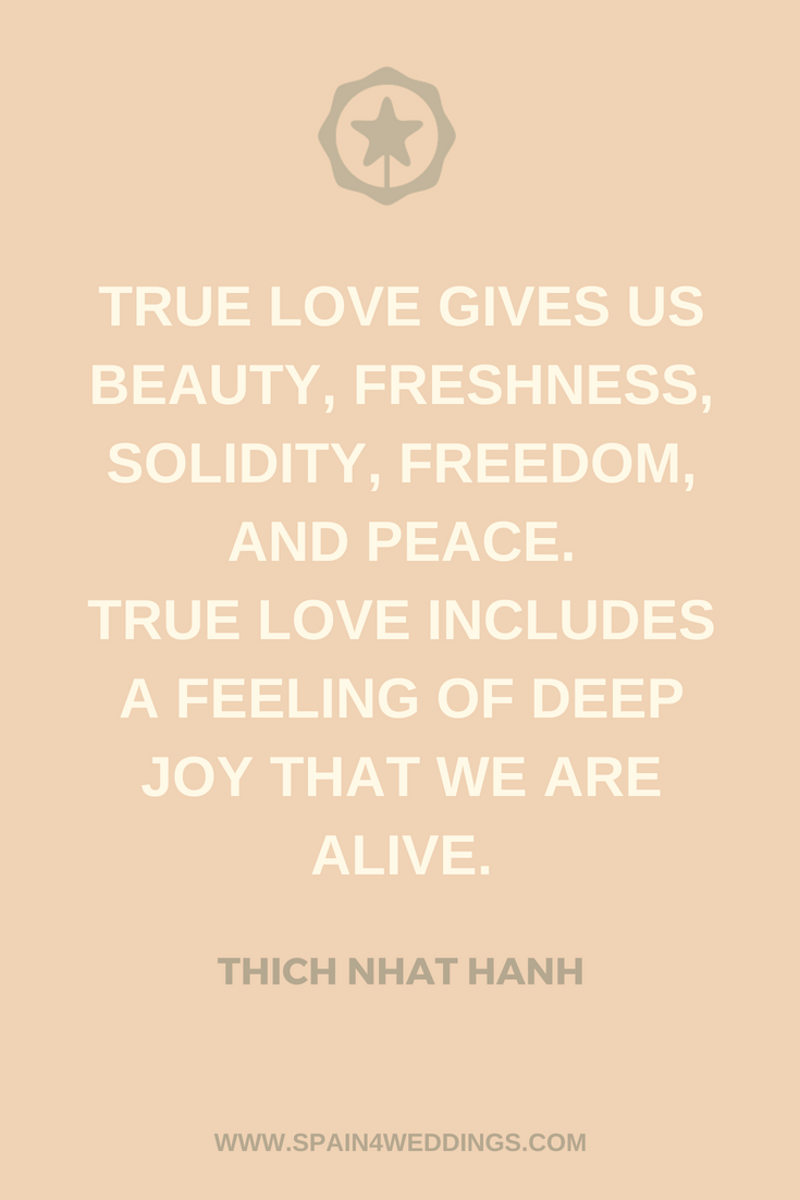 True love gives us beauty, freshness, solidity, freedom ...
