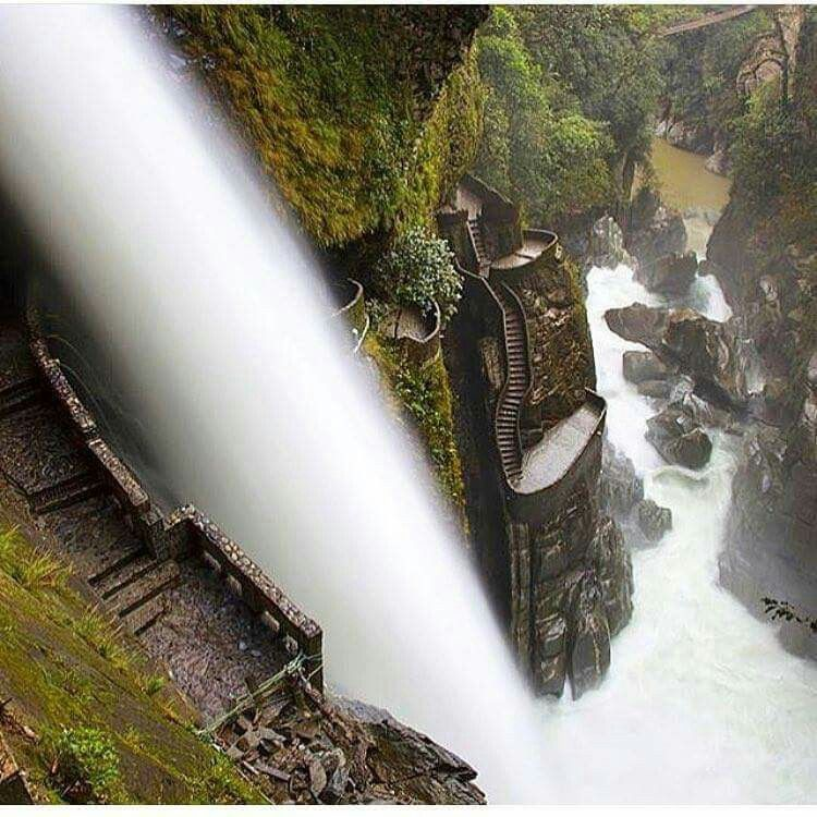 Canyon steps in Ecuador.
