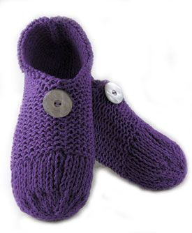 Double Knit Slipper.   If you know how to knit, purl and do basic shaping, you can make these easy to knit, cozy slippers. They are double knit, creating a soft cushiony material. Knit flat and seamed.