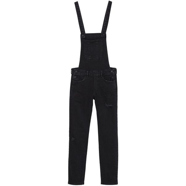 f00c0d3a304 MANGO Pocket Denim Dungarees ( 100) ❤ liked on Polyvore featuring jumpsuits