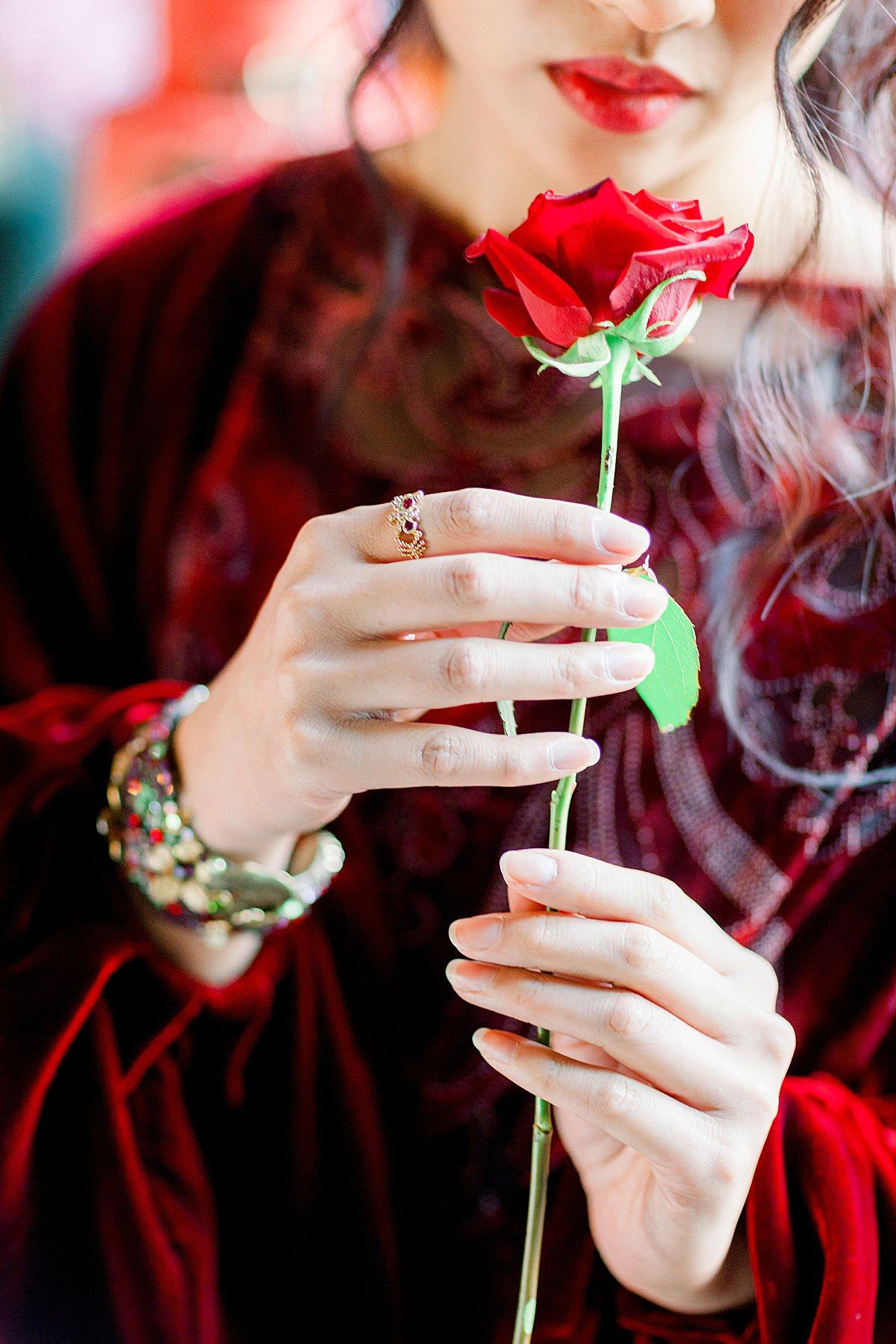 Briar Rose Pre Raphaelite Inspired Shoot with Joanne Fleming Design dresses, Jo Bradbury Photography, London Victorian Ring Company, HF Couture jewelled cuff #joanneflemingdesign #jobradburyphotography #legendofbriarrose #briarrose #preraphaelitemuse #redvelvetdress #preraphaelitedress #rubyengagementring #jewelledcuff
